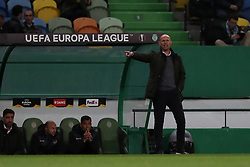 December 13, 2018 - Lisbon, Portugal - Sporting's head coach Marcel Keizer from Netherlands gestures during the UEFA Europa League Group E football match Sporting CP vs FC Vorskla Poltava at Alvalade stadium in Lisbon, Portugal on December 13, 2018  (Credit Image: © Pedro Fiuza/NurPhoto via ZUMA Press)