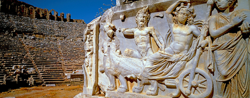 TURKEY, GREEK AND ROMAN Perge; theater with Dionysus relief