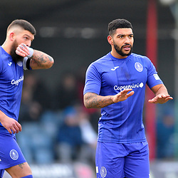 TELFORD COPYRIGHT MIKE SHERIDAN Ellis Deeney of Telford during the Vanarama Conference North fixture between AFC Telford United and Alfreton Town at The Impact Arena on Wednesday, January 1, 2020.<br /> <br /> Picture credit: Mike Sheridan/Ultrapress<br /> <br /> MS201920-038