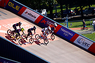 Start, BMX Qualification during the Cycling European Championships Glasgow 2018, at Glasgow BMX Centre, in Glasgow, Great Britain, Day 9, on August 10, 2018 - Photo luca Bettini / BettiniPhoto / ProSportsImages / DPPI<br /> - Restriction / Netherlands out, Belgium out, Spain out, Italy out -