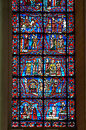 Stained glass Windows of Cathedral of Chartres, France. A UNESCO World Heritage Site. .<br /> <br /> Visit our MEDIEVAL ART PHOTO COLLECTIONS for more   photos  to download or buy as prints https://funkystock.photoshelter.com/gallery-collection/Medieval-Middle-Ages-Art-Artefacts-Antiquities-Pictures-Images-of/C0000YpKXiAHnG2k
