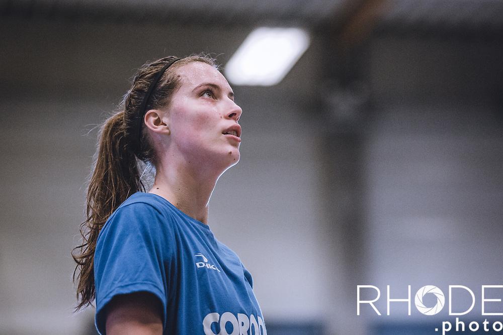 Antonia Delaere (BEL)<br /> women's pro basketball player at Mithra Castors Braine (BEL)<br /> <br /> Individual Training Program at Corodo Basketball <br /> 2018-12-27