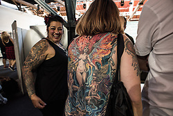 THE INTERNATIONAL LONDON TATTOO CONVENTION 2015 - Photographed by KASH - Over 400 of the worlds finest, most famous, truly unique tattoo artists, including TV Stars such as Ami James (Miami Ink & NY Ink),Tim Hendricks (NY Ink) and Phil Kyle (London Ink), will be jetting in for the spectacular 11th London International Tattoo Convention, the finest tattoo show on the planet.  When The London Tattoo Convention was first established a decade ago, it was estimated that one in eight of all British adults had been inked. In 2010 it was estimated this had increased to a fifth of all adults having at least one tattoo, and now it is estimated that at least a third of all British adults have gone under the needle. It comes as no surprise, therefore, to hear that attendance figures have risen from 3500 at the original venue, The Old Truman Brewery ten years ago, to well over 20,000 at the vast, picturesque setting of Tobacco Dock last year.