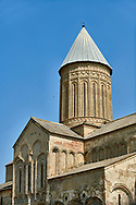 Pictures & images of the cupola of the medieval Alaverdi St George Cathedral & monastery complex, 11th century, near Telavi, Georgia (country). <br /> <br /> At 50 meters high Alaverdi St George Cathedral was once the highest cathedral in Georgia (now its the nes Tblisi cathedral). The cathedral is part of a Georgian Orthodox monastery founded by the monk Joseph [Abba] Alaverdeli, who came from Antioch and settled in Alaverdi. On the UNESCO World Heritage Site Tentative List.