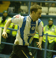Photo: Aidan Ellis.<br /> Sheffield Wednesday v Manchester City. The FA Cup. 07/01/2007.<br /> Wednesday's Steven McLean celebrates scoring the eqauliser