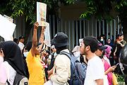 Jakarta, officially the Special Capital Region of Jakarta (Indonesian: Daerah Khusus Ibukota Jakarta), is the capital and largest city of Indonesia<br /> <br /> On the Photo: Women's March