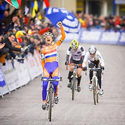 HUYBERGEN (NED) veldrijden <br />WK 2008-2009<br />Marianne Vos wereldkampioen veldrijden vrouwen