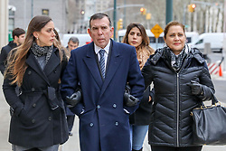 Juan Ángel Napout (former president of Conmebol) arrives at the Federal Court of Brooklyn, New York, in the United States, for another day of trial before the US Justice, on Friday, 22. (Foto: William Volcov)