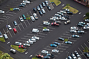 Aerial view of a parking lot in Lihue, Kauai, Hawaii.