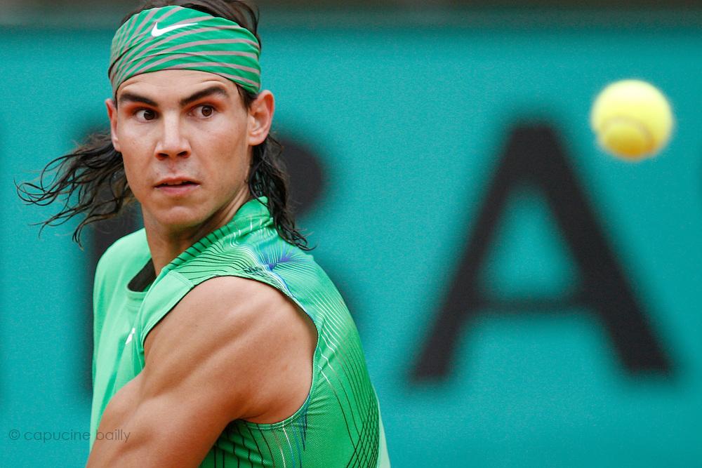 Roland Garros. Paris, France. June 3rd 2008..Rafael NADAL against Nicolas ALMAGRO..1/4 Finals...