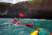 Kayaking, Napali Coast, Kauai, Hawaii