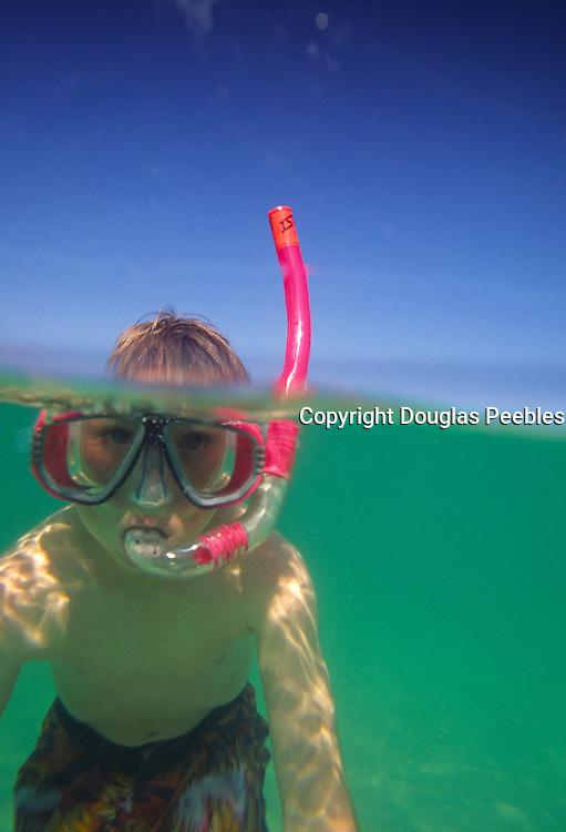 Boy snorkling<br />