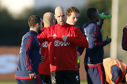 Coach Erik ten Hag of Ajax (C) during a training session of Ajax Amsterdam at the Cascada Resort on January 08, 2018 in Lagos, Portugal