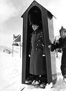 Mike Fitroy. Dangerous Sports Club ski race. St. Moritz. 1983.<br />© Copyright Photograph by Dafydd Jones<br />66 Stockwell Park Rd. London SW9 0DA<br />Tel 0171 733 0108