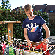 Aarhus, Denmark, June 3rd, 2010. Thomas G. doctor, 34, Danish doctor, took two months of paternity leave to care for children while his wife Vinne works.
