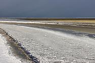 Bevroren Waddenzee bij Zwarte Haan