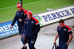 Scarlets players arrive prior to the game between Scarlets and Toyota Cheetahs - Mandatory by-line: Dougie Allward/JMP - 02/11/2019 - RUGBY - Parc y Scarlets - Llanelli, Wales - Scarlets v Toyota Cheetahs - Guinness PRO14