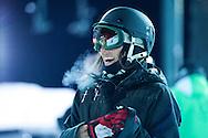 Angeli VanLaanen during Women's Ski Superpipe Practice at 2014 X Games Aspen at Buttermilk Mountain in Aspen, CO. ©Brett Wilhelm/ESPN