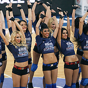 Anadolu Efes's show girls during their Euroleague Top 16 basketball match Anadolu Efes between CSKA Moscow at the Abdi Ipekci Arena in Istanbul at Turkey on Thursday, March, 01, 2012. Photo by TURKPIX