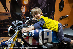 Getting started on BMW Motorcycles at a young age at the Swiss-Moto Customizing and Tuning Show. Zurich, Switzerland. Sunday, February 24, 2019. Photography ©2019 Michael Lichter.
