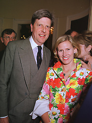 SIR TOBIAS & LADY CLARKE  at a party in London on 17th June 1999.<br /> MTK 78