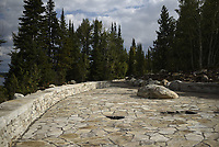A new stone overlook and gathering place near the Jenny Lake Boat Launch on the southeast side of the lake.