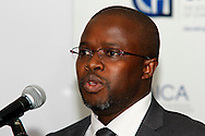 DURBAN - 19 April 2016 - Phakamisa Stamper, the KwaZulu-Natal Deputy Business Executive of the Auditor General speaks at the launch of a training programme to have accountants do their articles in the KwaZulu-Natal provincial treasury. Picture: Allied Picture Press/APP