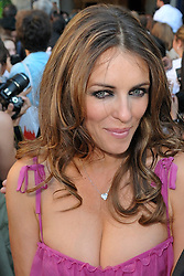 Elizabeth Hurley arriving for the Fall-Winter 2010/2011 Haute-Couture fashion show of designer Valentino held at the Place Vendome square in Paris, France on July 7, 2010. Photo by Nicolas Genin/ABACAPRESS.COM