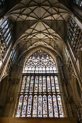 "More than half of England's medieval stained glass is held in York Minster's 128 windows. York Minster, built over 250 years 1220-1472 AD, is one of the finest medieval buildings in Europe. Also known as St Peter's, its full name is ""Cathedral and Metropolitical Church of St Peter in York,"" located in England, United Kingdom, Europe. York Minster is the seat of the Archbishop of York, the second-highest office of the Church of England. ""Minster"" refers to churches established in the Anglo-Saxon period as missionary teaching churches, and now serves as an honorific title. York was founded by the Romans as Eboracum in 71 AD. As the center of the Church in the North, York Minster has played an important role in great national affairs, such as during the Reformation and Civil War."