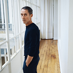 Martin Grant, fashion designer, posing in his showroom. Paris, France. January 3, 2019. <br /> Martin Grant, designer de mode, pose dans son showroom. Paris, France. 3 janvier 2019.