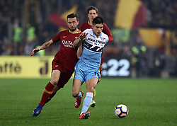 March 2, 2019 - Rome, Lazio, Italy - SS Lazio v As Roma : Serie A.Bryan Cristante of Roma and Joaquin Correa of Lazio at Olimpico Stadium in Rome, Italy on March 2, 2019. (Credit Image: © Matteo Ciambelli/NurPhoto via ZUMA Press)