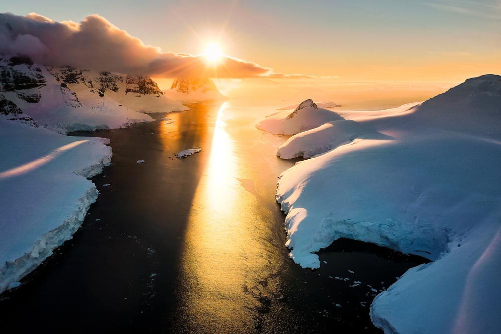 Sunset over Peltier Channel, Antarctica