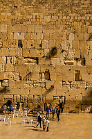 Men's section, Western Wall (Wailing Wall), Jerusalem, Israel.
