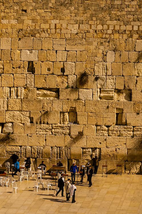 Men's section, Western Wall (Wailing Wall), Jerusalem, Israel.