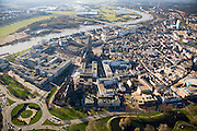 Nederland, Gelderland, Arnhem, 11-02-2008; stadscentrum met Eusebiuskerk, links van de Eusebiustoren het Provinciehuis; Rijn, Neder Rijn; ***..luchtfoto (toeslag); aerial photo (additional fee required); .foto Siebe Swart / photo Siebe Swart