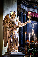 """Guardian angel helps to illuminate the altar of the Minor Basilica of San Lorenzo in Lucina - Rome""... <br />