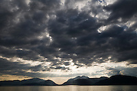 Dramatic clouds over Loch Linnhe and mountains, Lochaber, Scotland