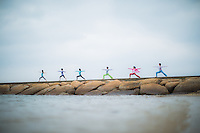 Heeki Park, Rei Ueda, Erika Yamane, Namiko Kutsukake, Mai Fujimoto, Kaoru Tsuruta at Momochihama, Fukuoka - Japan