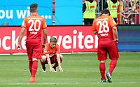 Fotball<br /> Tyskland<br /> Foto: imago/Digitalsport<br /> NORWAY ONLY<br /> <br /> 24.05.2015, Fussball 2.Bundesliga, 1.FC Kaiserslautern - FC Ingolstadt, v.l. Kevin Stöger (1. FC Kaiserslautern) Ruben Jenssen (1. FC Kaiserslautern) Amin Younes (1. FC Kaiserslautern) enttaeuscht traurig frustriert dissapointed