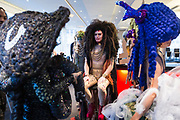 """Models relax before """"Hair Affair: The Art of Hair"""" at Madison Museum of Contemporary Art in Madison, WI on Thursday, April 25, 2019. The sixth biennial brought an array of designers and stylists from across Wisconsin to create under the theme of """"Zodiac."""""""