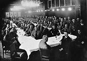 Adolph Hitler at a gathering of National Socialist Party (Nazi) members of the Reichstag, 1930s.