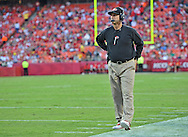 KANSAS CITY, MO - AUGUST 16:  Head coach Jim Harbaugh of the San Francisco 49ers looks onto the field against the Kansas City Chiefs during the first half on August 16, 2013 at Arrowhead Stadium in Kansas City, Missouri.  (Photo by Peter G. Aiken/Getty Images) *** Local Caption *** Jim Harbaugh