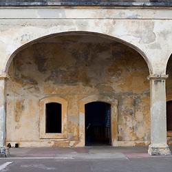 The courtyard inside Fort San Cristobal in San Juan, Puerto Rico.