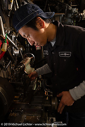 Takuya Aikawa at his SureShot shop after a ride around Chiba, Japan. Saturday, December 8, 2018. Photography ©2018 Michael Lichter.