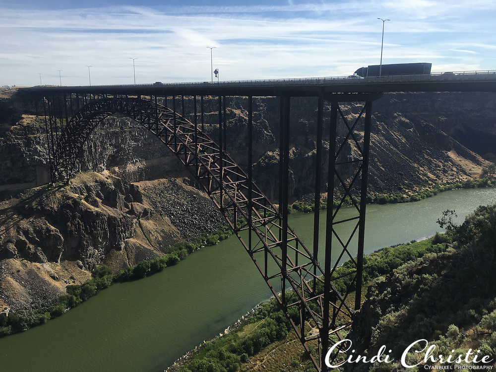 The Snake River Canyon and Perrine Bridge are seen from the visitor center's overlook in Twin Falls, Idaho, on July 5, 2016. (Cindi Christie/Cyanpixel)