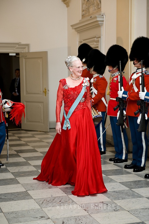 15.04.2015. Copenhagen, Denmark.Queen Margrethe II attended a Gala Dinner at Christiansborg Palace on the eve of The 75th Birthday.Photo:© Ricardo Ramirez