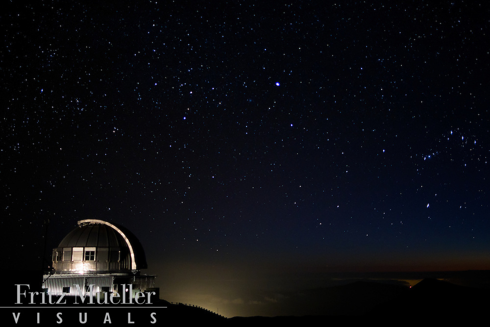 Observatories on the summit of Maouna Kea, Big Island, Hawaii