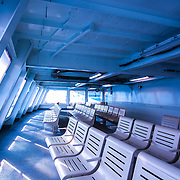 Washington State Ferry - Enclosed passenger seating area