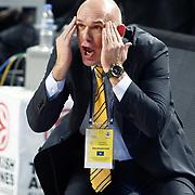 Fenerbahce Ulker's coach Neven SPAHIJA during their Euroleague Basketball Top 16 Game 2 match Fenerbahce Ulker between Power Electronics Valencia at Sinan Erdem Arena in Istanbul, Turkey, Thursday, January 27, 2011. Photo by TURKPIX