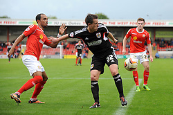 Bristol City's Nicky Shorey holds the ball up - Photo mandatory by-line: Dougie Allward/JMP - Tel: Mobile: 07966 386802 19/10/2013 - SPORT - FOOTBALL - Alexandra Stadium - Crewe - Crewe V Bristol City - Sky Bet League One